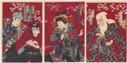 Nakamura Shikan IV, Sukedakaya Takasuki IV, Ichikawa Danjūrō IX and Bandō Kakitsu in the play Sukeroku, Flower of Edo at the Shintomiza