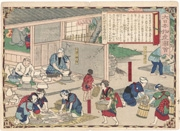 Manufacturing Imari Porcelain in Hizen [Province], figure 1 from the series Dai Nippon Bussan Zue (Products of Greater Japan)