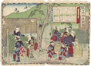 Picking Uji Tea in Yamashiro Province, figure 1 from the series Dai Nippon Bussan Zue (Products of Greater Japan)