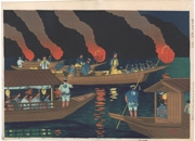 Cormorant Fishing on the Nagara River in Gifu Prefecture Scene 2