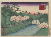 [The Dam] on the Otonashigawa at Ōji (No. 36) from the series Thirty-six Views of Tokyo
