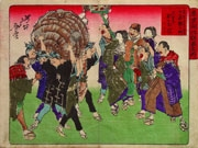 The Tori-no-machi Festival at Senzoku from the series Comic Pictures of Famous Places in the Early Days of Tokyo