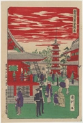 Asakusa Kinryūzan from the series Famous Places of Tokyo