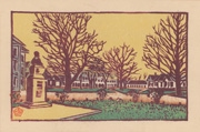 Campus of Hokkaido Imperial University, No. 1 from the portfolio Scenic Views of Sapporo Hand-printed Woodblock Collection, Volume 1