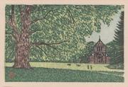 Hokkaido Imperial University Botanical Garden, No. 2 from the portfolio Scenic Views of Sapporo Hand-printed Woodblock Collection, Volume 1
