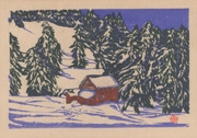 Outskirts, Okuteineyama Mountain Hut No. 5 from the portfolio Scenic Views of Sapporo Hand-printed Woodblock Collection, Volume 1