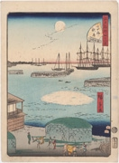 Autumn Moon at Takanawa, No. 35 from the series Forty-Eight Famous Views of Edo