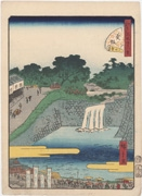 Hollyhock Slope, No. 41 from the series Forty-Eight Famous Views of Edo