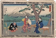 Act VIII (Hachidanme) from the series The Storehouse of Loyal Retainers (Chūshingura)