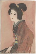 Woman in Brown Kimono (untitled)