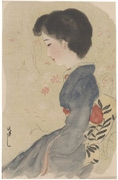 Woman in Blue Kimono (untitled)
