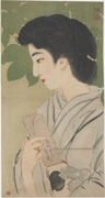 Bijin with Letter (untitled)