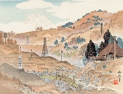 Mount Fuji from the Sakawa River from the series Twenty-Five Views of Mount Fuji: A Woodblock Collection