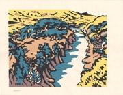 Tenryūkyō from the series Collection of Woodblock Prints Scenery of Japan, Shinshū by Miyata Saburō