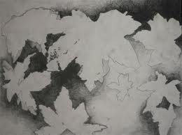 Negative Space Drawing of Leaves - Ms. Juliette Montague High ...