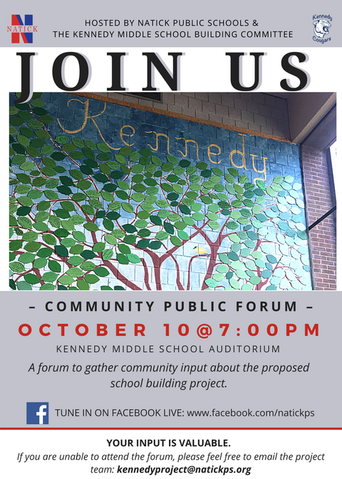 Kennedy Forum Oct 10 at 7pm