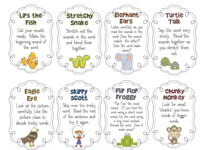 Reading Strategies - Mrs. Colleran's First Grade Website