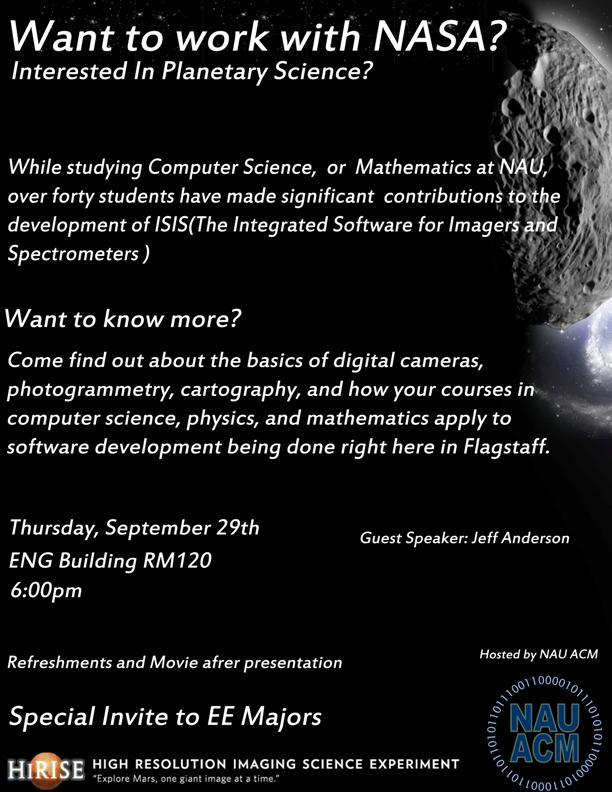 NAU ACM Meeting - 09/29/2011