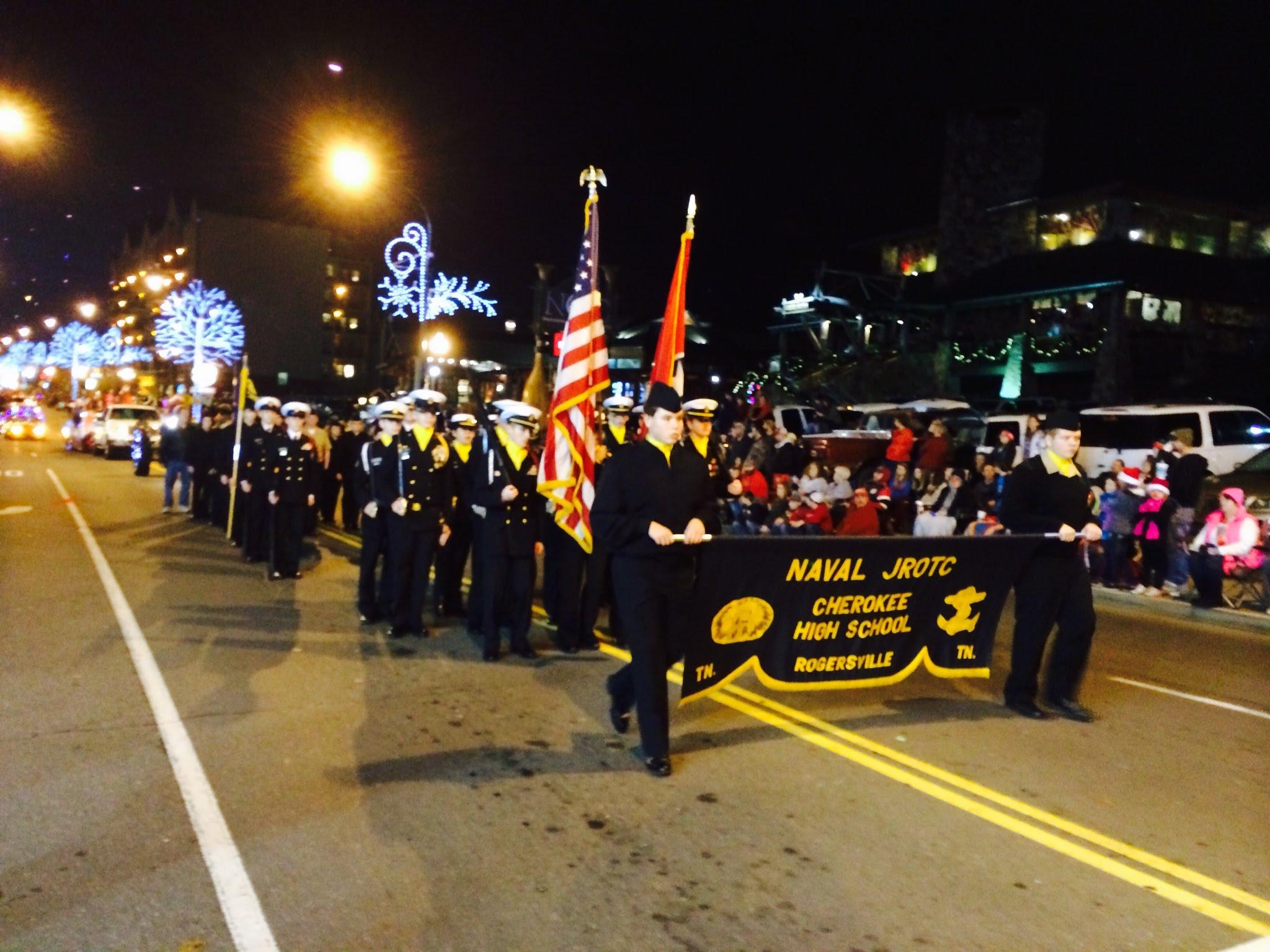 Gatlinburg Christmas Parade.Gatlinburg Christmas Parade Cherokee Njrotc