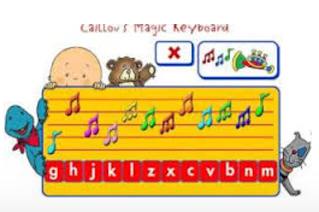 http://pbskids.org/caillou/games/keyboard.html