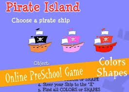 http://www.ziggityzoom.com/games/pirate-island-colors-shapes-preschool-game