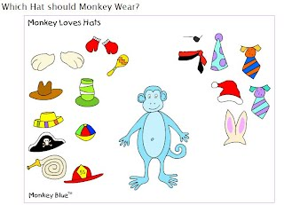 http://www.ziggityzoom.com/games/which-hat-should-monkey-wear