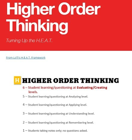 H O T S Higher Order Thinking Skills Resources Saxe