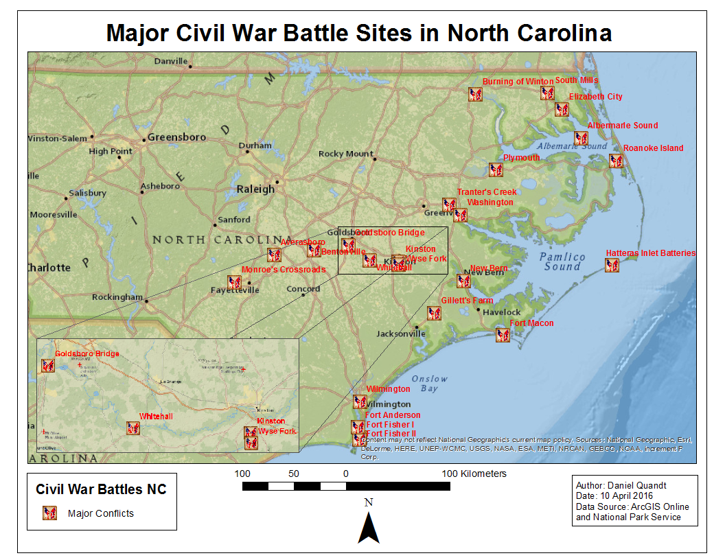 The gallery for --> Civil War Battle Locations Map