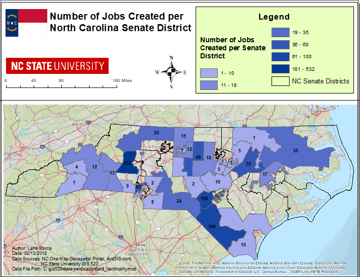 Data Cardinality - GIS 520 PORTFOLIO: Lana Morris on