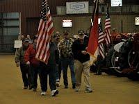 Veterans presenting the colors