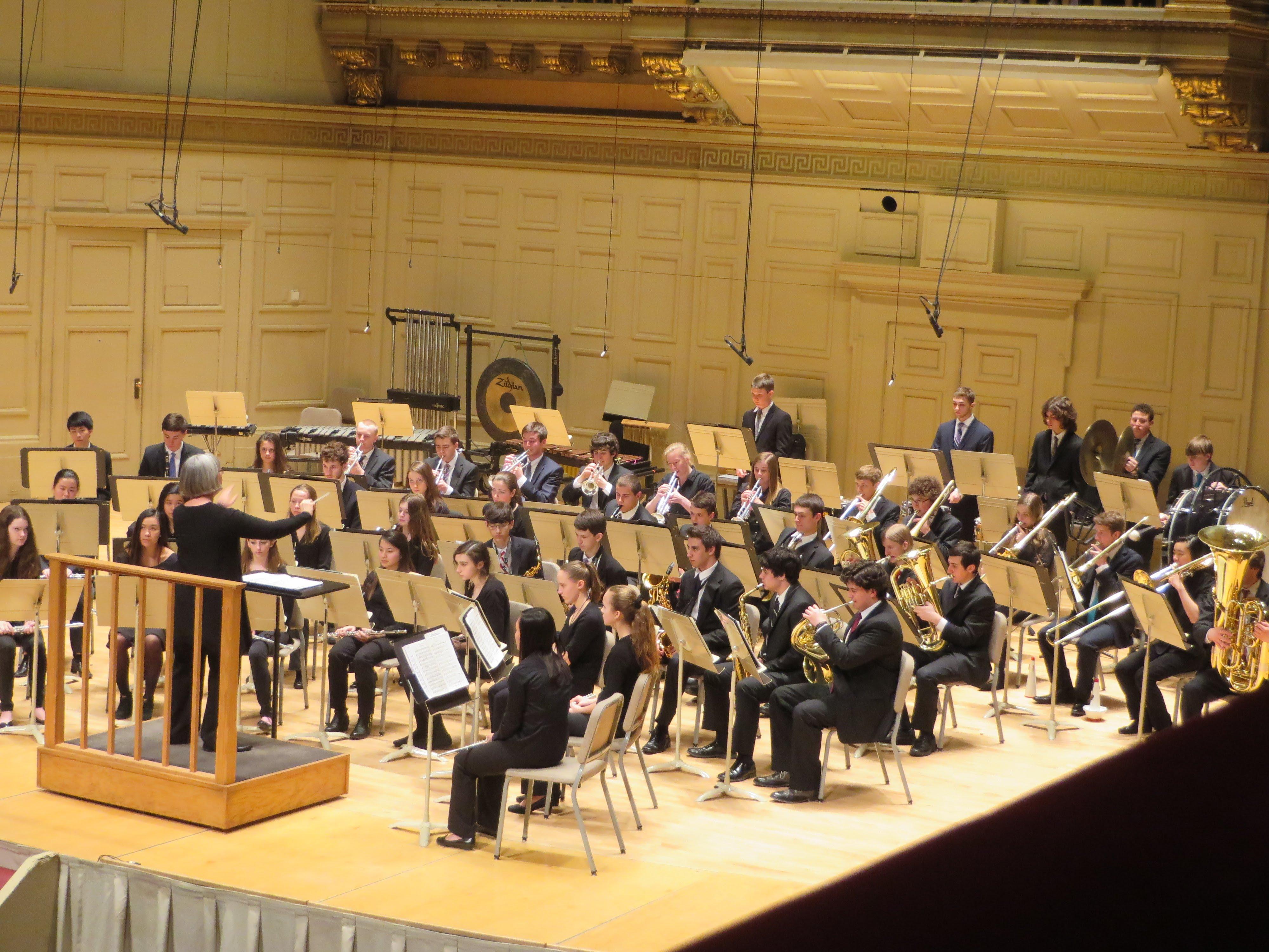 Symphonic Band at Symphony Hall