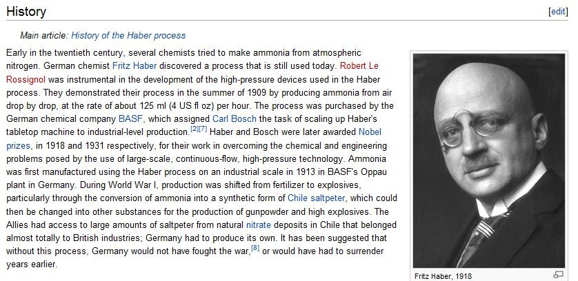 an introduction to the history of the haber process Historical group  basf consultant fritz haber was also called upon to assist   that changed with the introduction of a rival cyanamide process, developed in .