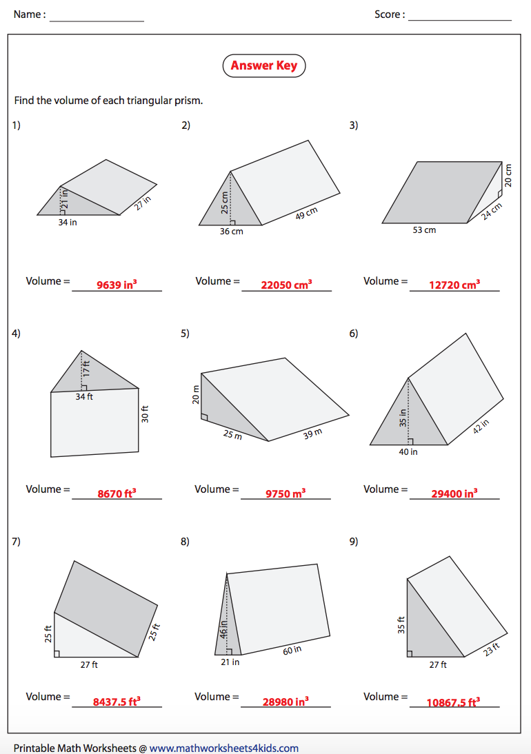 volume of a triangular prism answers nms self paced math. Black Bedroom Furniture Sets. Home Design Ideas