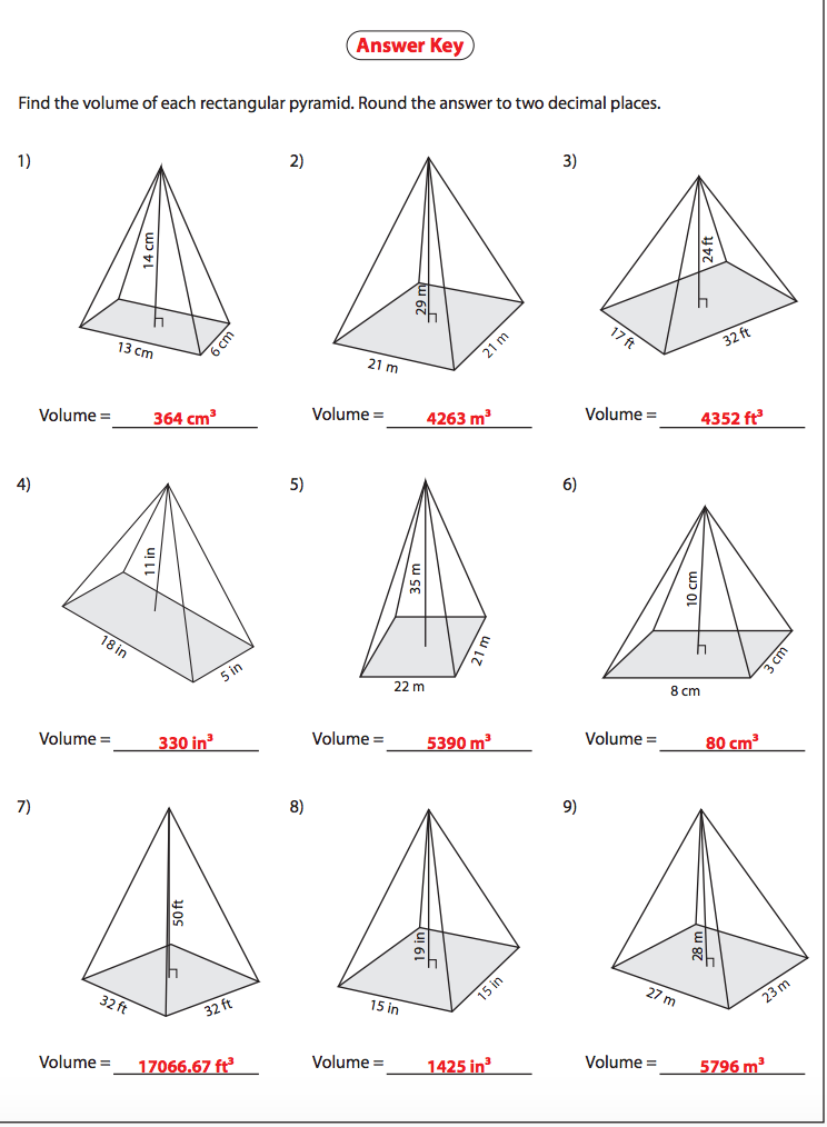 Volume Of Rectangular Pyramid Answers on Practice Writing The Word February Worksheet
