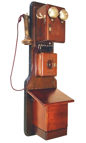 1880 Williams three-box telephone