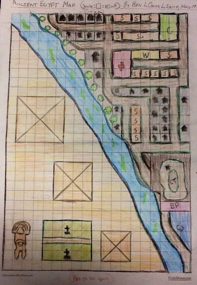 Ancient Egyptian City Map (Giza) - Ancient Egypt 6B 2013 By Ben L ...