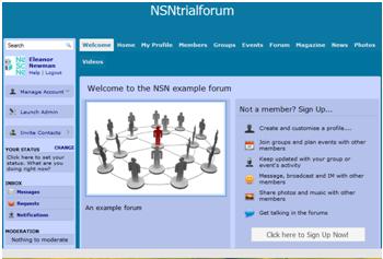 Link to a Forum - Website Design Template