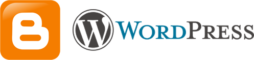 Blogger.svg, ZyMOS, http://commons.wikimedia.org/wiki/File:Blogger.svg, Public Domain | WordPress logo.svg, WordPress, http://commons.wikimedia.org/wiki/File:WordPress_logo.svg, GNU General Public License