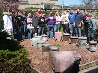 Pottery 1 and 2 at the Des Moines Art Center for a Raku Firing Workshop