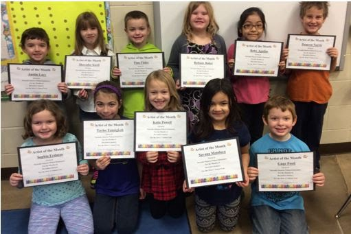 December - January Elementary Artists of the Month