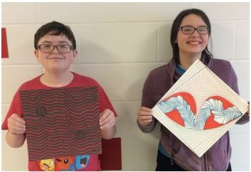 December - January Junior High Artists of the Month