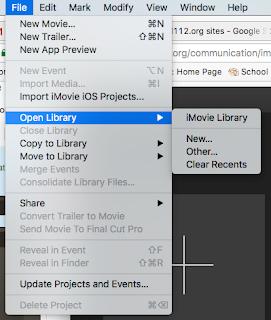 iMovie Starter Project - Communications/Media Arts (CMA)