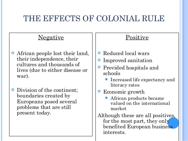 lasting effects of imperialism in africa