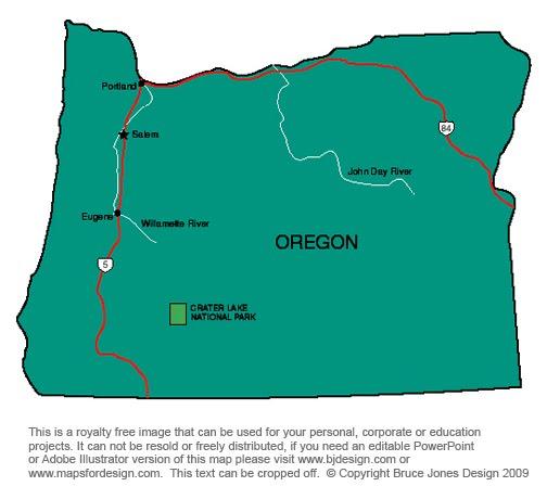 Location Crater Lake National Park Oregon