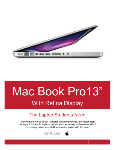 macbook pro 13 in flyer macbook pro is the only way to go