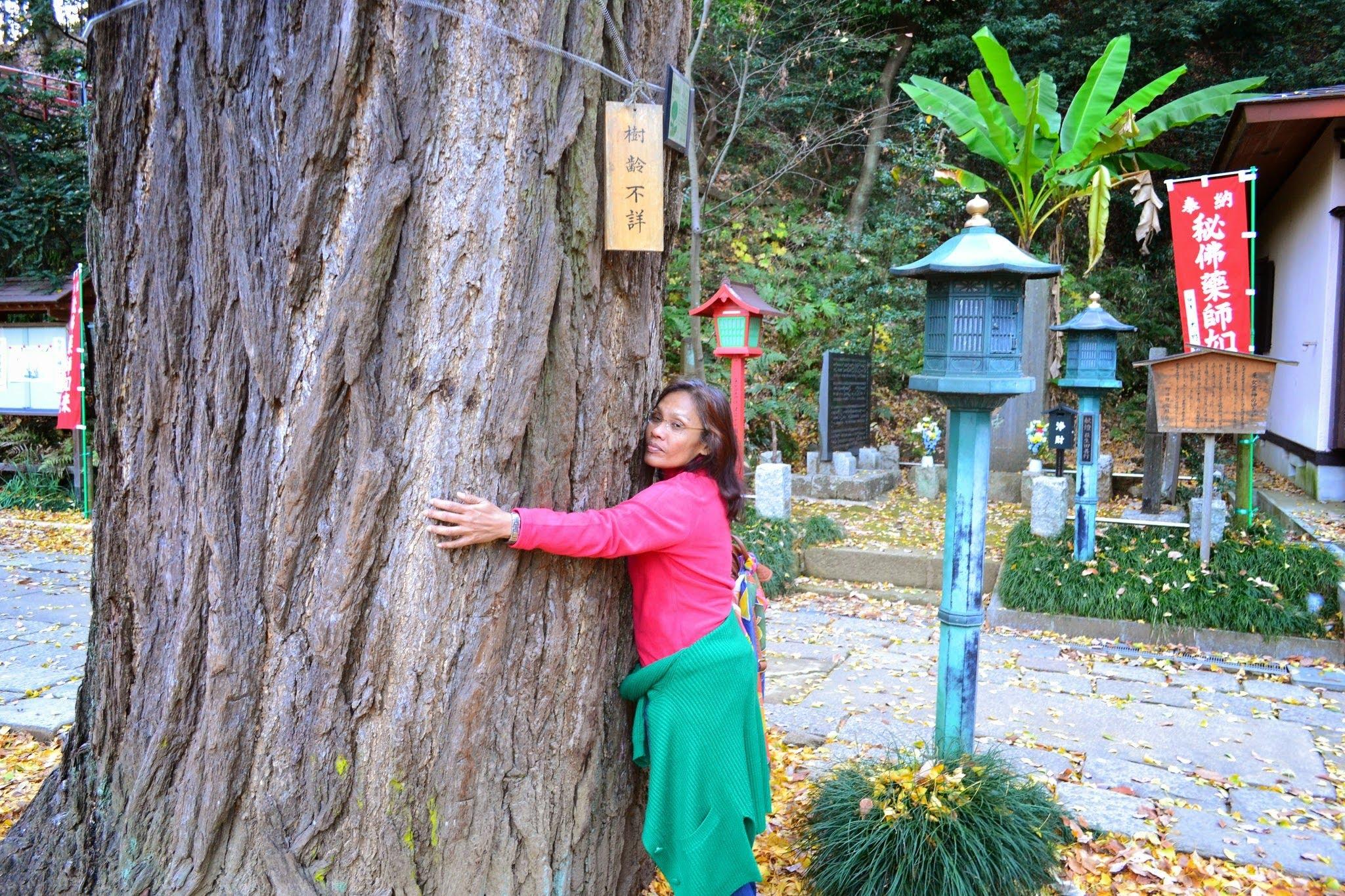 Mala is a tree hugger!