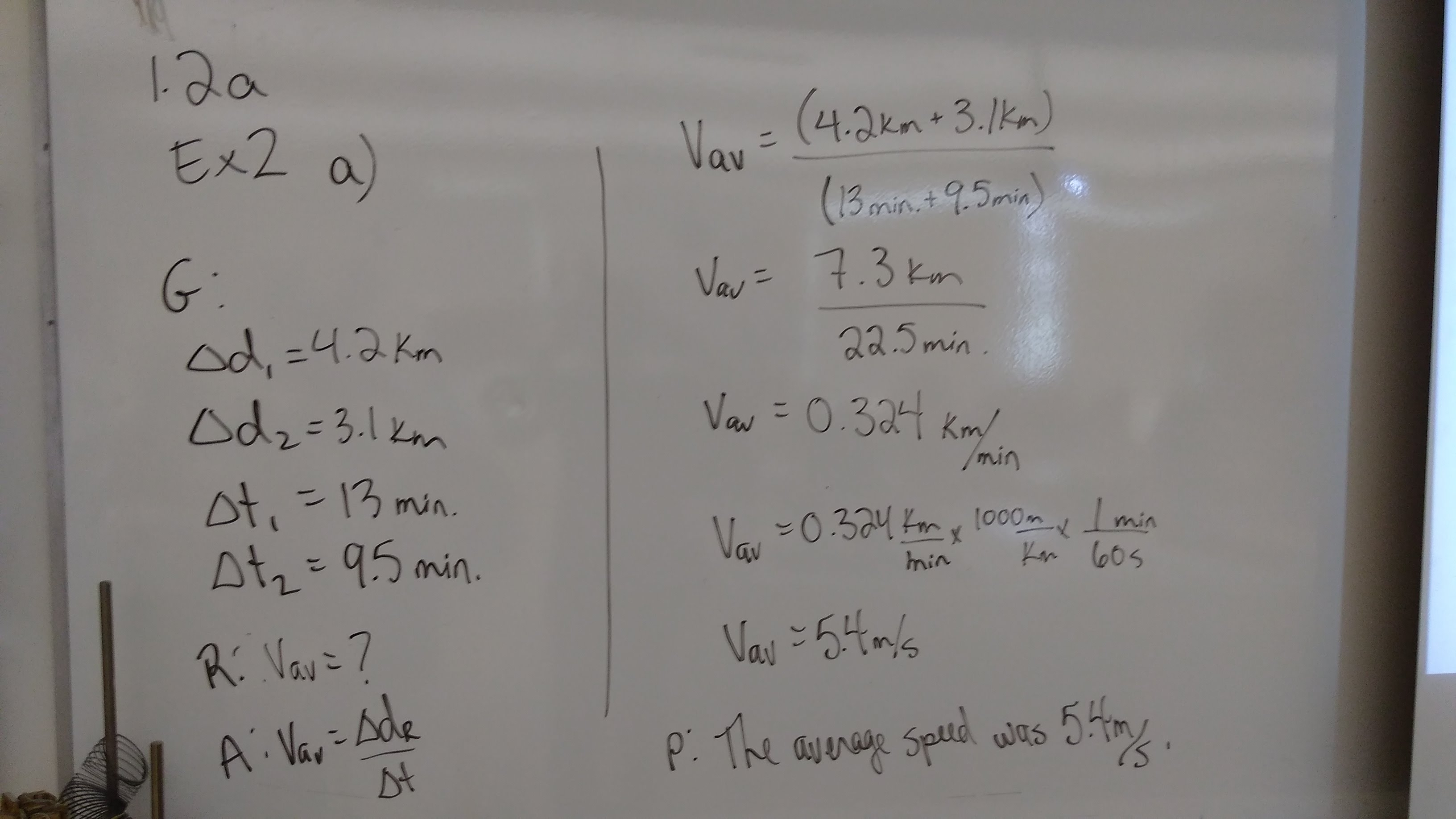 Unit 1: Kinematics - Summer Physics
