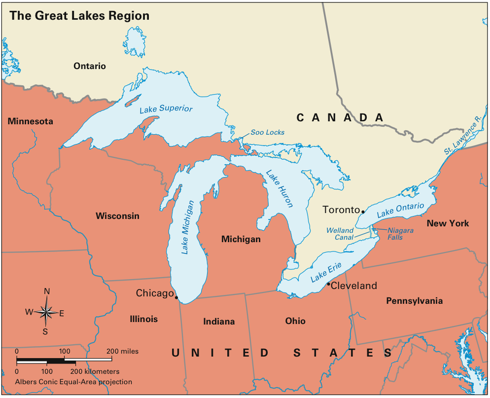 us map with great lakes Great Lakes Cweaver us map with great lakes