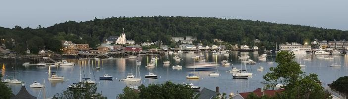 This is Boothbay Harbor in the summer!