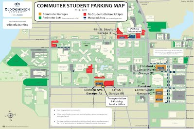 Odu Parking Map Improved Parking Garage at Old Dominion University